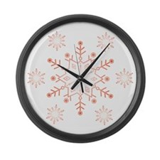 snowflake dark Large Wall Clock