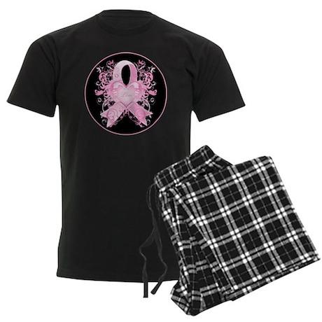 PinkRibLoveSwirlRbTR Men's Dark Pajamas