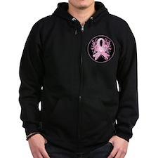 PinkRibLoveSwirlRbTR Zip Hoodie