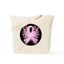 PinkRibLoveSwirlRbTR Tote Bag