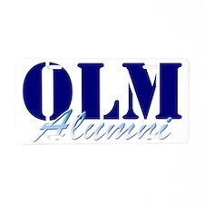 Alumni 1 Cropped Aluminum License Plate