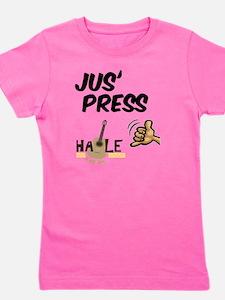 jus_press_cafe_10x10 Girl's Tee
