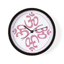 om light pink Wall Clock