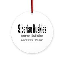 Siberian Huskies Ornament (Round)