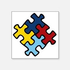 "Autism Puzzle Square Sticker 3"" x 3"""
