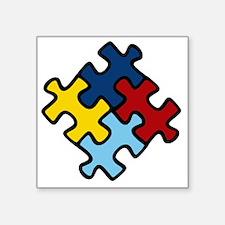 """Autism Puzzle Square Sticker 3"""" x 3"""""""