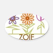 ZOIE-cute-flowers Oval Car Magnet