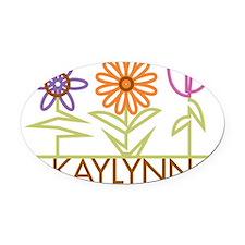 KAYLYNN-cute-flowers Oval Car Magnet
