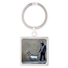 dog bark Square Keychain