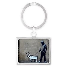 dog bark Landscape Keychain