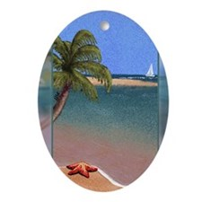 Sea-star Tropics (Journal, 200 DPI) Oval Ornament