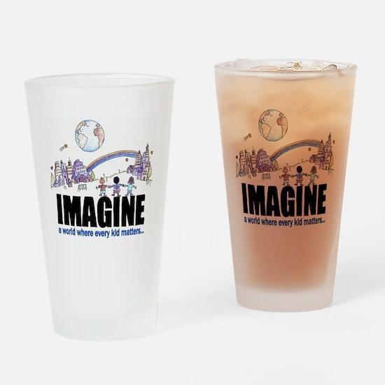 Imagine reframed Drinking Glass