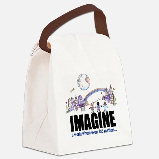 Imagine reframed Canvas Lunch Bag