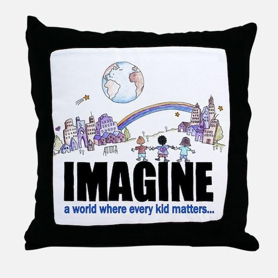 Imagine reframed Throw Pillow