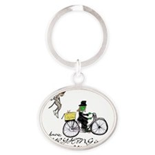 published Oval Keychain