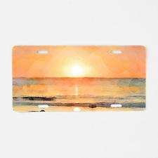 OceanShoulderBag Aluminum License Plate