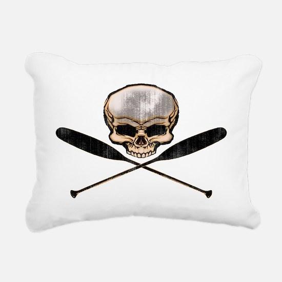 skull oars crossbones Rectangular Canvas Pillow
