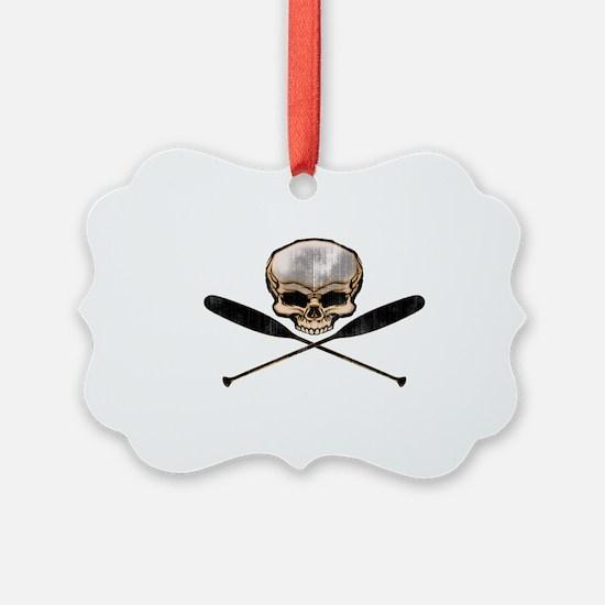 skull oars crossbones Ornament