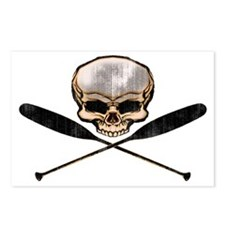 skull oars crossbones Postcards (Package of 8)