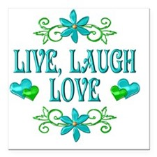 "LIVELAUGH Square Car Magnet 3"" x 3"""