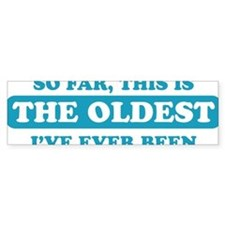 oldest ever been blue Car Sticker