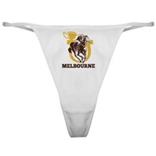 horse race jockey racing horseshoe c Classic Thong