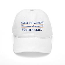 age and treachery youth and skill lights Baseball Cap