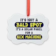 bald spot sex machine lights Ornament
