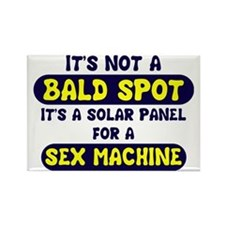 bald spot sex machine lights Rectangle Magnet