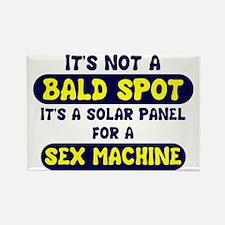 bald spot sex machine lights Rectangle Magnet