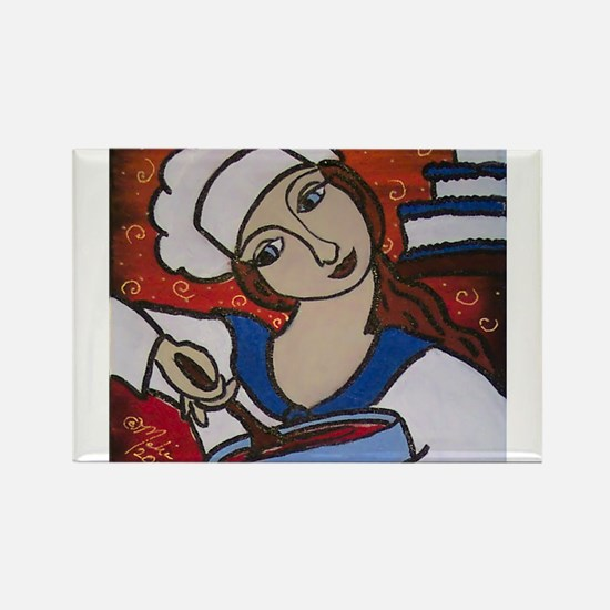 Pastry Chef Rectangle Magnet (10 pack)