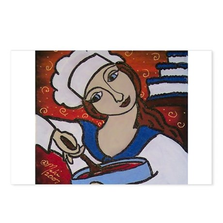 Pastry Chef Postcards (Package of 8)
