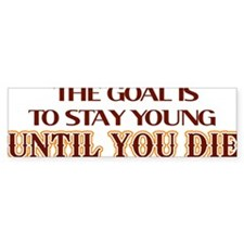 stay young then die lights Stickers
