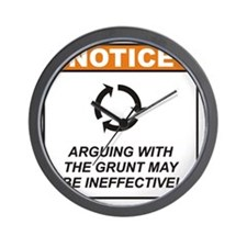 Grunt_Notice_Argue_RK2011 Wall Clock