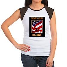 Freedom NAVY 16X20  Women's Cap Sleeve T-Shirt