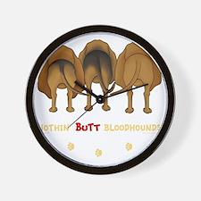 BloodhoundTransNew Wall Clock