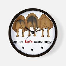 BloodhoundButtsNew Wall Clock