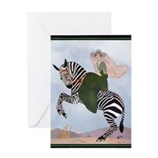 1 JAN MARTY ZEBRA  Greeting Card