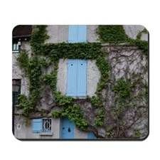 France, Paris. Ivy-covered wall of a bui Mousepad