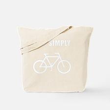 Live Simply Bike White Tote Bag