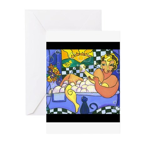 Bubble Bath Greeting Cards (Pk of 10)