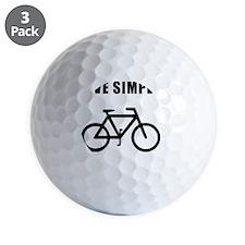 Live Simply Bike Black Golf Ball