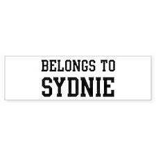 Belongs to Sydnie Bumper Bumper Sticker