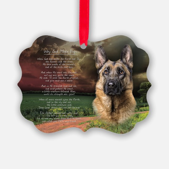 godmadedogs(oval) Ornament