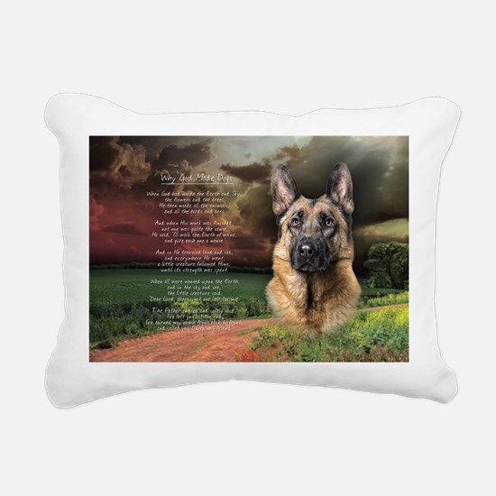godmadedogs(oval) Rectangular Canvas Pillow
