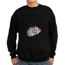 Zombie Child Brain Black Sweatshirt