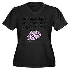 Zombie Child Women's Plus Size Dark V-Neck T-Shirt