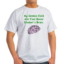 Zombie Child Brain Green T-Shirt