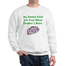 Zombie Child Brain Green Sweater