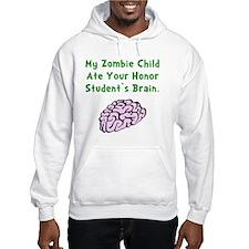 Zombie Child Brain Green Hoodie Sweatshirt